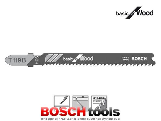 Полотно для лобзика Bosch basic for Wood T 119 B