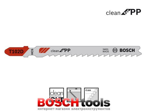 Полотно для лобзика Bosch clean for PP T 102 D
